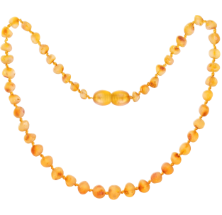 BALTIC AMBER BABY TEETHING NECKLACE HONEY BAROQUE STYLE UNPOLISHED