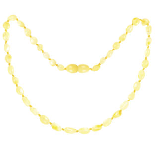 BALTIC AMBER BABY TEETHING NECKLACE MILK BEANS STYLE POLISHED