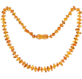 BALTIC AMBER BABY TEETHING NECKLACE HONEY NUGGETS STYLE POLISHED