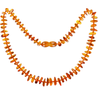 BALTIC AMBER BABY TEETHING NECKLACE COGNAC NUGGETS STYLE POLISHED