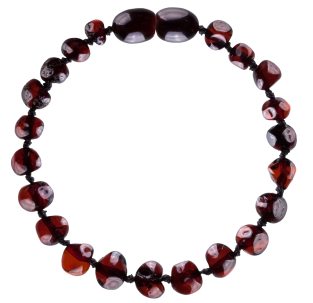 BALTIC AMBER BABY TEETHING BRACELET CHERRY BAROQUE STYLE POLISHED