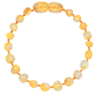 BALTIC AMBER BABY TEETHING BRACELET LEMON BAROQUE STYLE UNPOLISHED