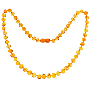 BALTIC AMBER ADULT NECKLACE HONEY BAROQUE STYLE POLISHED