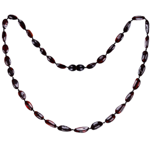 BALTIC AMBER ADULT NECKLACE CHERRY BEANS STYLE POLISHED