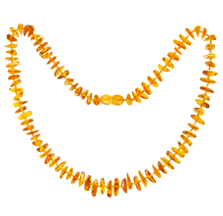 BALTIC AMBER ADULT NECKLACE HONEY NUGGETS STYLE POLISHED