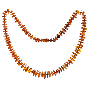 BALTIC AMBER ADULT NECKLACE COGNAC NUGGETS STYLE POLISHED