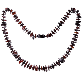 BALTIC AMBER ADULT NECKLACE CHERRY NUGGETS STYLE POLISHED