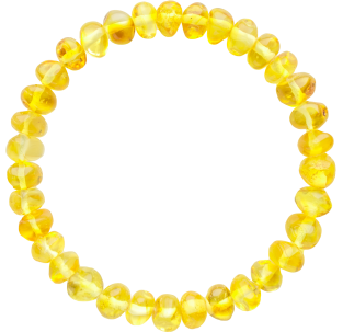 BALTIC AMBER ADULT BRACELET LEMON BAROQUE STYLE POLISHED