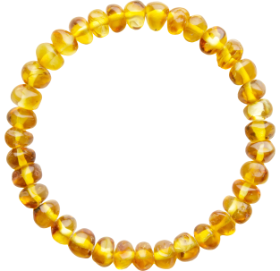 BALTIC AMBER ADULT BRACELET HONEY BAROQUE STYLE POLISHED