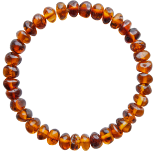 BALTIC AMBER ADULT BRACELET COGNAC BAROQUE STYLE POLISHED
