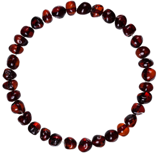 BALTIC AMBER ADULT BRACELET CHERRY BAROQUE STYLE POLISHED