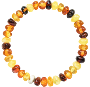 BALTIC AMBER ADULT BRACELET MULTI 4 BAROQUE STYLE POLISHED