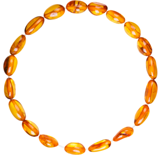 BALTIC AMBER ADULT BRACELET COGNAC BEANS STYLE POLISHED