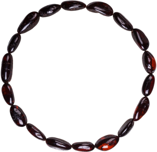 BALTIC AMBER ADULT BRACELET CHERRY BEANS STYLE POLISHED