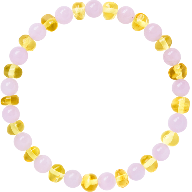LEMON WITH ROSE QUARTZ GEMSTONES POLISHED