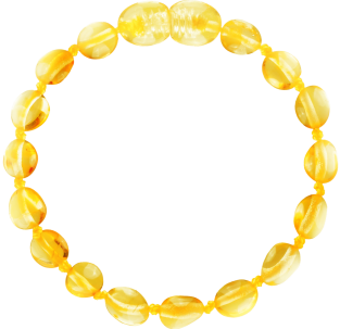 BALTIC AMBER BABY TEETHING BRACELET LEMON BEANS STYLE POLISHED