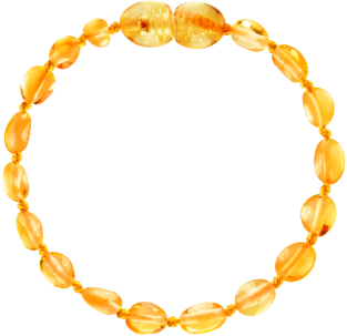 BALTIC AMBER BABY TEETHING BRACELET HONEY BEANS STYLE POLISHED
