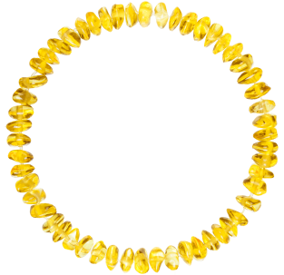 BALTIC AMBER BABY TEETHING BRACELET LEMON NUGGETS STYLE POLISHED