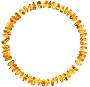 BALTIC AMBER BABY TEETHING BRACELET HONEY NUGGETS STYLE POLISHED