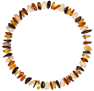 BALTIC AMBER BABY TEETHING BRACELET MULTI 4 NUGGETS STYLE POLISHED