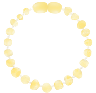 BALTIC AMBER BABY TEETHING BRACELET MILK BAROQUE STYLE UNPOLISHED