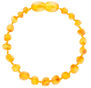 BALTIC AMBER BABY TEETHING BRACELET HONEY BAROQUE STYLE UNPOLISHED