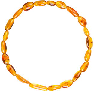 BALTIC AMBER ADULT BRACELET HONEY BEANS STYLE POLISHED