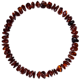 BALTIC AMBER ADULT BRACELET CHERRY NUGGETS STYLE POLISHED