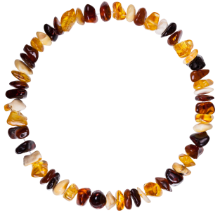 BALTIC AMBER ADULT BRACELET MULTI 4 NUGGETS STYLE POLISHED