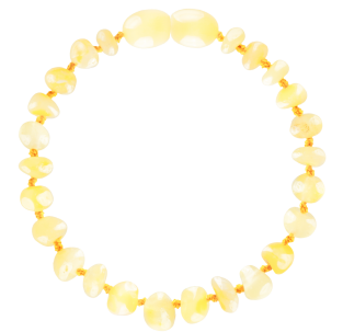 BALTIC AMBER BABY TEETHING BRACELET MILK BAROQUE STYLE POLISHED