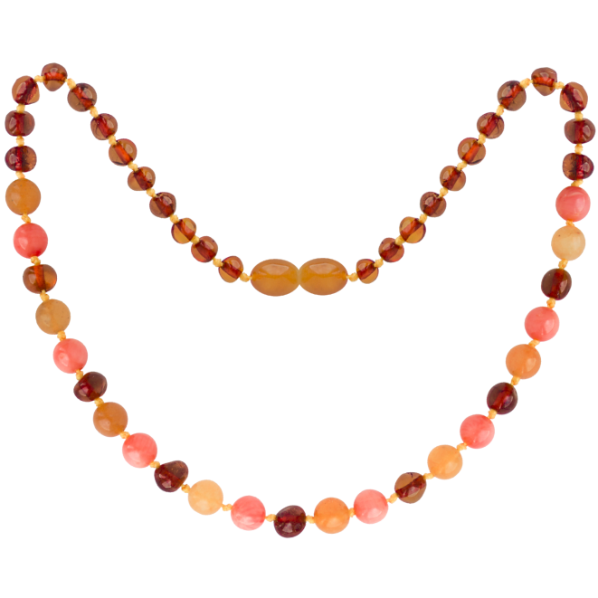 COGNAC/AVENTURINE/CORAL GEMSTONES POLISHED