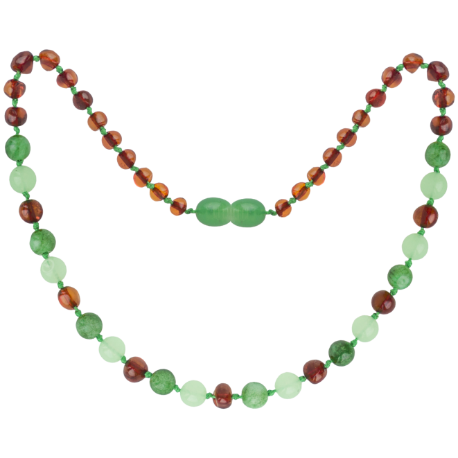 COGNAC/GREEN JADE GEMSTONES POLISHED