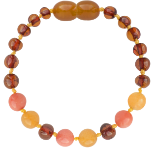 COGNAC/AVENTURINE/CORAL BAROQUE STYLE POLISHED