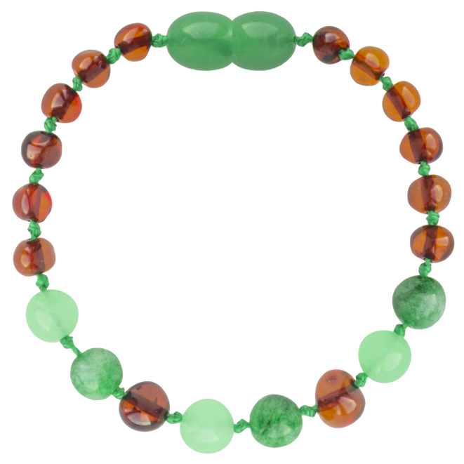 COGNAC/GREEN JADE BAROQUE STYLE POLISHED