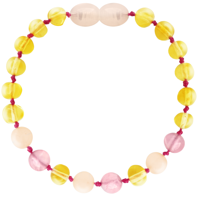 LEMON/QUARTZ/PINK JADE BAROQUE STYLE POLISHED